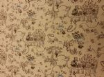 ALICE IN WONDERLAND - MAD TEA PARTY - Natural Fabric 80% Cotton 20% Linen - Price Per Metre